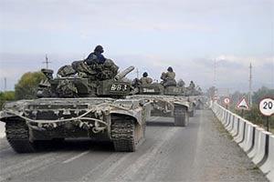 Российская бронетехника вошла в Цхинвали. Грузия обратилась за помощью к США