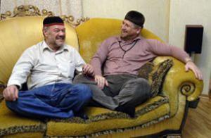 """Спецкор """"КП"""" А. Гамов и президент ЧР Р. Кадыров"""