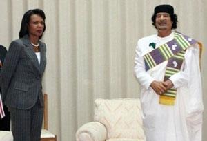 Каддафи принял в своей резиденции Кондолизу Райс