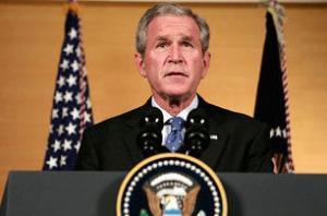 Буш выступил с обращением к стране в связи с финансовым кризисом в США