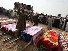 Похороны жертв американской агрессии на Сирию