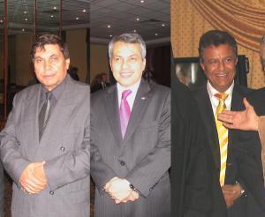 Глава миссии ЛАГ в Москве Ибрахим Аль-Фирджани, посол Малайзии в РФ Мохамад Халис, посол Йемена в РФ Мохамед Салех Аль-Хеляли.