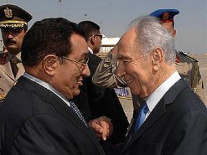 Хосни Мубарак и Шимон Перес