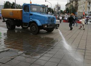 Москва запретила мыть улицы
