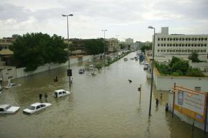 На улицах Мекки после дождя