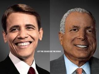 Рекламщики показали жителям Нью-Йорка белого Обаму и черного Маккейна