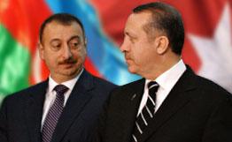 Президент Азербайджана И. Алиев с премьер-министром Турции Р. Эрдоганом