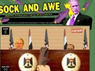 В Интернете появилась новая игра «Башмаком по Бушу»