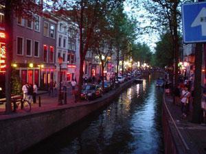 """Амстердам, квартал """"красных фонарей"""""""