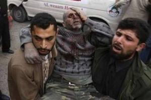 В результате израильских ударов погибло 195 и ранено более 300 палестинцев
