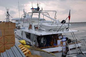 Израильский корабль протаранил судно с гуманитарной помощью