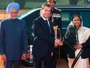 Президент Медведев заработал для России в Индии 6 млрд долларов