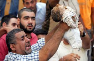 Прошлой ночью Газа подверглась самому мощному обстрелу