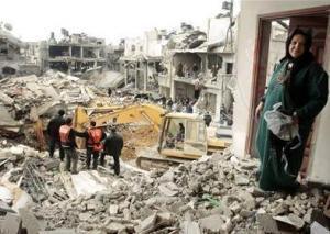 Разрушенная стихией войны Газа