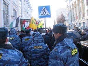 Разгон демонстрации у израильского посольства