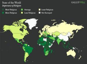 Gallup выяснил, где живут самые религиозные люди