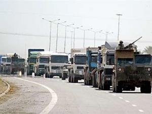 Транспортный конвой армии США