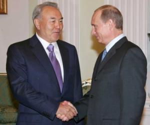Путин поблагодарил Назарбаева за развитие отношений с Россией