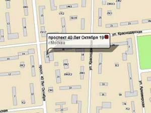 Схема места происшествия с сайта nakarte.rambler.ru