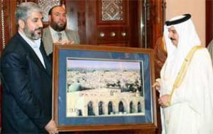 Глава ХАМАС встретился с королем Бахрейна
