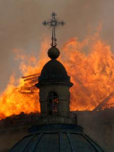 Храмы в Екатеринбурге поджигали скинхеды — милиция