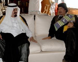 Примирительная встреча между саудовским монархом и ливийским лидером