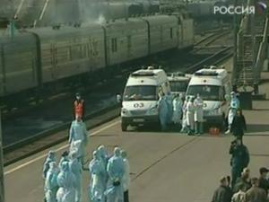 """Поезд """"Благовещенск-Москва"""", в котором, предположительно, от атипичной пневмонии скончалась гражданка Китая, утром в четверг прибыл на Ярославский вокзал столицы"""