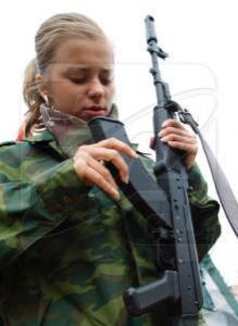 """Активистка движения """"Наши"""". Фото: РИА Новости"""