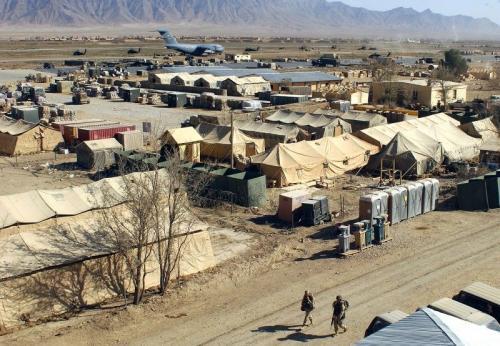 Главная американская военная база Баграм в Афганистане
