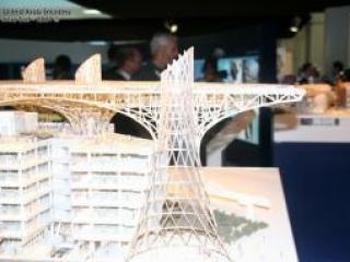 Проект эко-города будущего Масдар-сити, представленный на Всемирном саммите будущего энергетики, ОАЭ, 19 января 2009 г.