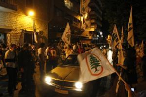 Сторонники правящей коалиции празднуют победу на улицах Триполи