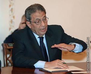 Генеральный секретарь Лиги арабских государств Амр Муса во время визита в Москву, 7 февраля 2007 г.