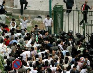 Столкновения сторонников Мусави с полицией в Тегеране