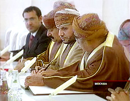 Встреча делегации из Омана с мэром Москвы Юрием Лужковым в Белом зале мэрии, 8 июня 2009 г. Фото ТВЦ