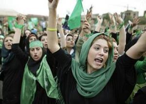 Сторонники Мусави на улицах Тегерана