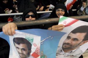 Демонстрация сторонников Ахмадинежада в Тегеране