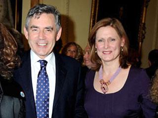 В субботу британский премьер Гордон Браун и его жена Сара приняли в своей резиденции на Даунинг-стрит организаторов парада