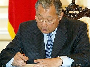 Президент Киргизии Курманбек Бакиев