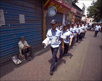 Усиленные потрули в Синьцзян-Уйгурском автономном округе
