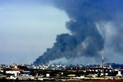 Израильская бомба разорвалась в жилых кварталах Газы