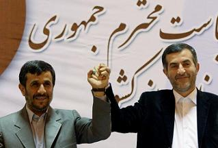 Махмуд Ахмадинежад и Исфандияр Рахим-Машаи