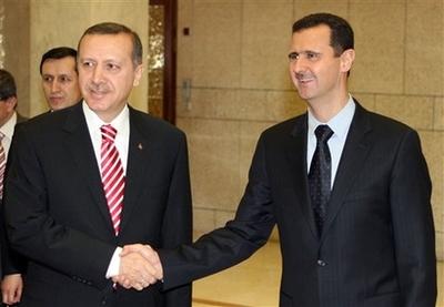 Встреча президента Сирии Башара Асада с премьер-министром Турции Тайипом Эрдоганом