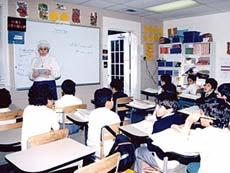 На уроке в Саудовской академии