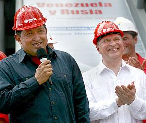Уго Чавес и Игорь Сечин