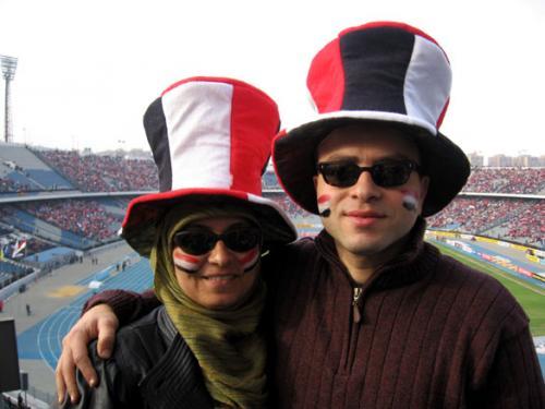 Хеба Котб с мужем