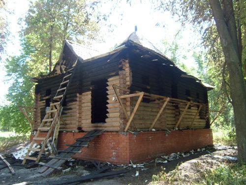 Мечеть Балахны после пожара