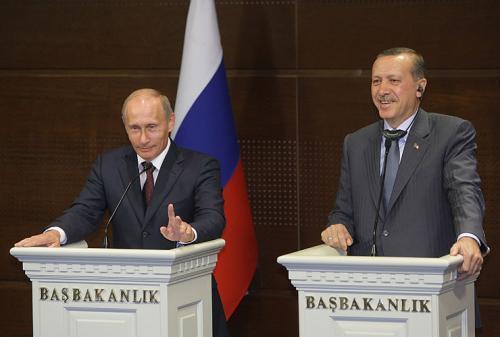 Владимир Путин и Реджеп Эрдоган на пресс-конференции в Анкаре.