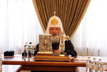 Патриарх Кирилл в своей резиденции