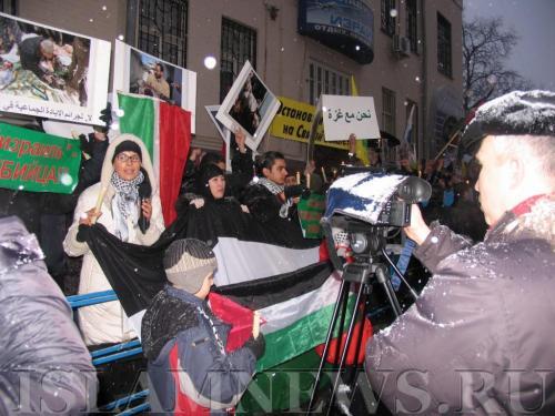 Митинги солидарности с палестинским народом стали уже традиционными в Москве