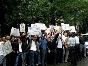 В Баку полиция разогнала акцию протеста против израильской оккупации Иерусалима